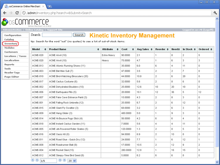 Kinetic Inventory Management